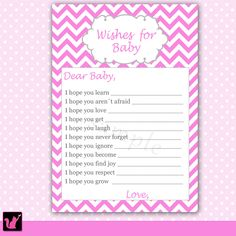 Wishes for baby: Free Printable | Funkylindsay | Baby Shower Ideas ...