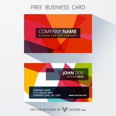 Free Business Card Design, Free Business Cards, Vector Free Download, Free Vector Graphics, Card Companies, Company Names, Adobe Photoshop, Vector Design, Free Design