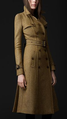 Tailored Wool Trench By Burberry   http://us.burberry.com/store/trench-coats/womens-trench-coats/