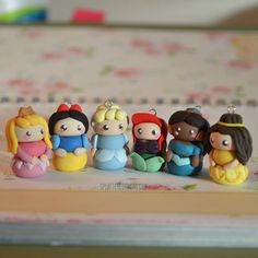 Disney Princess Polymer Clay Charms by SplatteredCanvas on Etsy