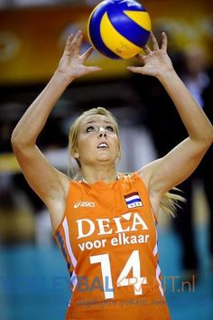 Laura Dijkema, volleyball player, setter, Netherlands Team and USC Münster (Germany)