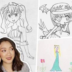 physically trying to shield myself from the cringe 😂 these are just a few of the many old childhood drawings that I reacted to in my new video!! 🙈 link is in my bio! join me on the cringe train 💀
