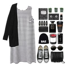 """Untitled #107"" by imelda-marcella-chandra ❤ liked on Polyvore featuring Wood Wood, Monki, Converse, Proenza Schouler, Domo Beads, Chanel, Grown Alchemist, KeepCup, Luckies and Byredo"