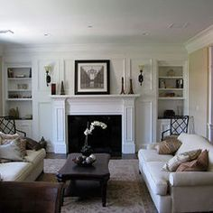 Living Room Fireplace Shelves Design, Pictures, Remodel, Decor and Ideas - page 7
