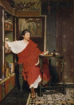 Sir Lawrence Alma-Tadema - A Roman Scribe