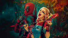 Download Deadpool and Harley Quinn Wallpaper by Veilaks Wallpapers 1920x1200