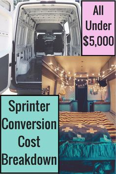 All materials cost breakdown of my full Sprinter conversion. All materials cost breakdown of my full Sprinter conversion. Sprinter Van Conversion, Camper Van Conversion Diy, Van Conversion Budget, Van Conversion Solar, Ford Transit Camper Conversion, Bus Life, Camper Life, Camping Ideas, Camping Snacks