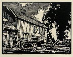 Old Wagon Shop, San Lorenzo (Alameda County, California)  by William Seltzer Rice, ca. 1940
