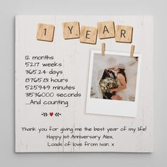 Celebrate your first year together with this 1 Year Anniversary Custom Canvas Print. With this canvas, you can tell your spouse how much you treasure every second you are together. Especially, you can add your personal touch to this print with a photo and a custom message to your love. #1year #anniversary #happy #love #couple #milestone #customcanvas #canvas #decor #gift #giftideas#oneyearanniversary