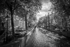 Amsterdam Light - http://www.jamaln.com/amsterdam-light/ - #AMS, #Amsterdam, #Architecture, #Blackandwhite, #Canal, #Light, #Reflections, #Water