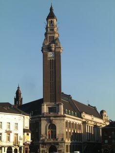 Charleroi - Hôtel deV ille - Beffroi, Belgium