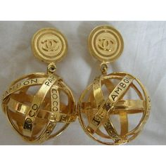 VINTAGE CHANEL GLOBE EARRINGS