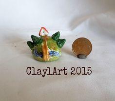 ooak Mini mondo con casetta e ponte : Arte della ceramica di claudia-altavilla-presepi