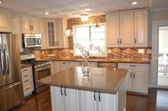 manufactured housing remodels | mobile home decorating | Mobile home kitchen remodel | Mobile home ...