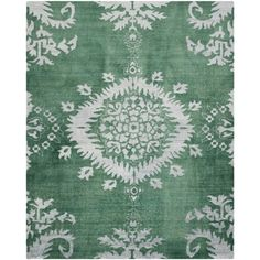 Safavieh Hand-knotted Stone Wash Emerald Wool/ Cotton Rug (6' x 9')