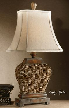 Wicker Lamp, Tuscan Lamps, Tuscan Lighting, Tuscan Light Fixtures, Tuscan Table Lamps. Uttermost  27502 AUGUSTINE, TABLE. Tuscan Lamp Retailer Since 1996. BellaSoleil.com Tuscan Decor.