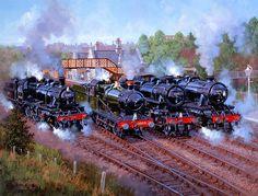 Railway Paintings by John Austin FGRA