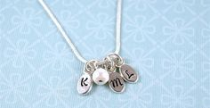 FINAL 2013 ENCORE!  Tiny Tag Initial Necklace—up to 3 initials