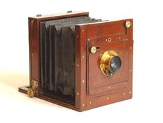 Old antique camera: Tailboard Camera c1890  Wratten & Wainwright