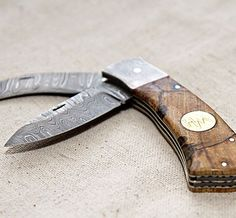 Double Lock Blade Pruner by HeMan Knives. Beautiful. Offered only through Bourbon and Boots.