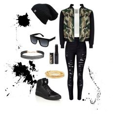 """""""N™"""" by bribriwiggins ❤ liked on Polyvore featuring Versace, Humble Chic, Kate Spade, Gucci, WithChic and New Look"""