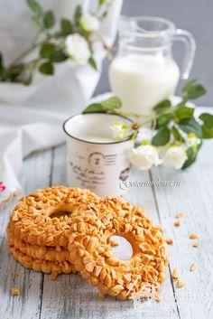 Рецепт Песочные кольца с орехами