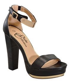 Look what I found on #zulily! Black Dally Sandal by Shake Shoes #zulilyfinds