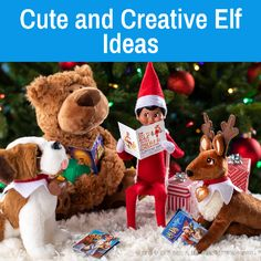 Cute Elf Ideas   Elf Arrival Inspiration   Elf Return Ideas   Elf on the Shelf Christmas Rock, Christmas Tree Cards, A Christmas Story, Before Christmas, Christmas Activities, Christmas Printables, Christmas Traditions, Elves At Play, Der Elf