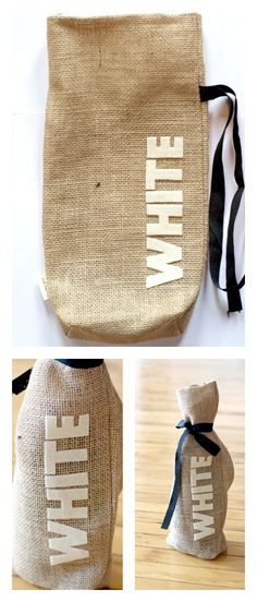 Make your own wine bag! www.blitsycrafts.com