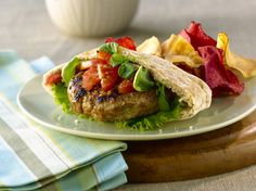 All-Bran™ Zesty Chicken Burgers Recipe - Flavoured with horseradish and a little hot sauce, these burgers have a little zing. #AllBran #Recipe #Chicken #GameTime #Fibre