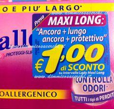 Coupon sconto 1,00 euro salvaslip Intervallo Lines