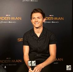 Tom Holland back at it again with that dashing smile