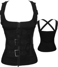 black corset top