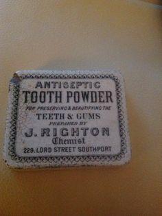 Antique Tooth Powder Pot Lid