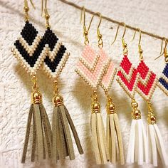 Fancy beaded earrings