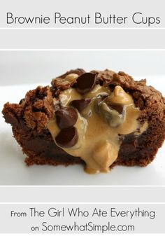 Delicious brownie peanut butter cups recipe from Somewhatsimple.com