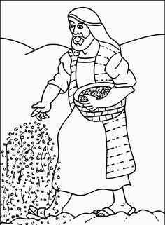 Parable Of the sower Coloring Page - 28 Parable Of the sower Coloring Page , Free Christian Coloring Pages the Parables Polar Bear Coloring Page, Bear Coloring Pages, Coloring Pages For Kids, Coloring Books, Coloring Pages Inspirational, Bible Activities, Online Coloring, Home Learning, Bible Crafts