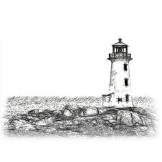 Learning to Draw? You're Gonna Need a Pencil - Drawing On Demand Lighthouse Clipart, Lighthouse Sketch, Lighthouse Art, Sketchbook Drawings, Pencil Drawings, Art Drawings, Cool Sketches, Drawing Sketches, Drawing Ideas
