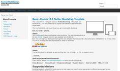 La plantilla gratis Bootstrap de Joomla fue creada por fastnetwebdesign con diseño líquido (Responsive Web Design).