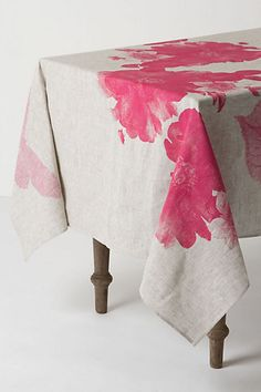 Begonia tablecloth. Beautiful, but not $228 beautiful! #anthropologie