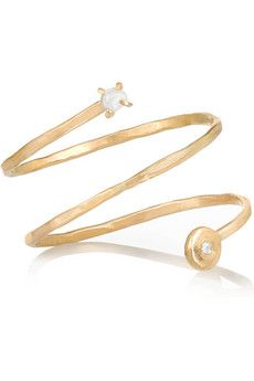 Melissa Joy Manning 14-karat gold, pearl and diamond ring | NET-A-PORTER