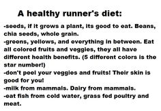 Healthy Runner's diet. Refuse to drink milk from a mammal so almond milk will have to do!