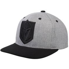 Men s Vegas Golden Knights adidas Gray Black Two-Tone Tonal Adjustable Hat 3ac626902