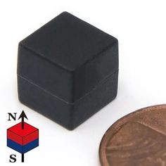 Material: Sintered NdFeB. Grade N52 Gauss Rating: 14,400 Gauss Pulling Force: 14.5 lbs Pole Orientation: Poles are on two opposite sides Coating: Black Plastic Coating Tolerance: The tolerances of all the dimensions are +/-0.002in with coating.