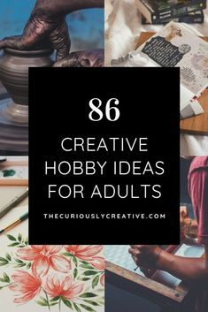 This list of hobbies for adults is geared towards creative activities that tend to be popular among both men and women. Find beginner guides for creative hobbies here! for women Creative Hobbies for Adults - The Curiously Creative Hobbies For Adults, Arts And Crafts For Adults, Art Projects For Adults, Toddler Art Projects, Hobbies For Women, Hobbies To Try, Hobbies And Interests, Adult Crafts, Diy Arts And Crafts