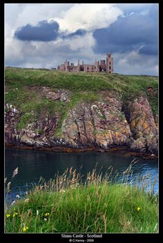 New Slains Castle is a ruined castle near Cruden Bay in Aberdeenshire, Scotland, overlooking the North Sea.
