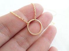 Gold Karma Infinity Eternity Circle Ring by TiffanyAvenueBridal