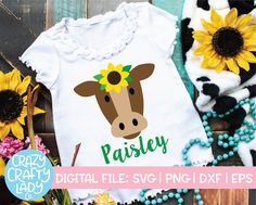 Trendy SVG, EPS, DXF, and PNG cut files for crazy crafters. Cow Shirt, Diy For Girls, Svg Cuts, Make And Sell, Flower Designs, Cutting Files, Fall, Autumn, Clip Art