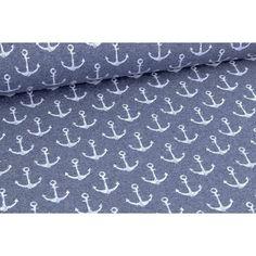 Anchors Summersweat, Denim Blue