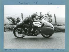 Killinchy 150  1956.  Wilfred Herron  500 Norton (Class winner 1956 & 1957)